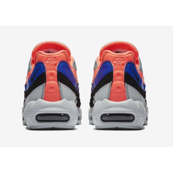 Nike Air Max 95 Pure Platinum/Bright Mango-Azul - 749766-035