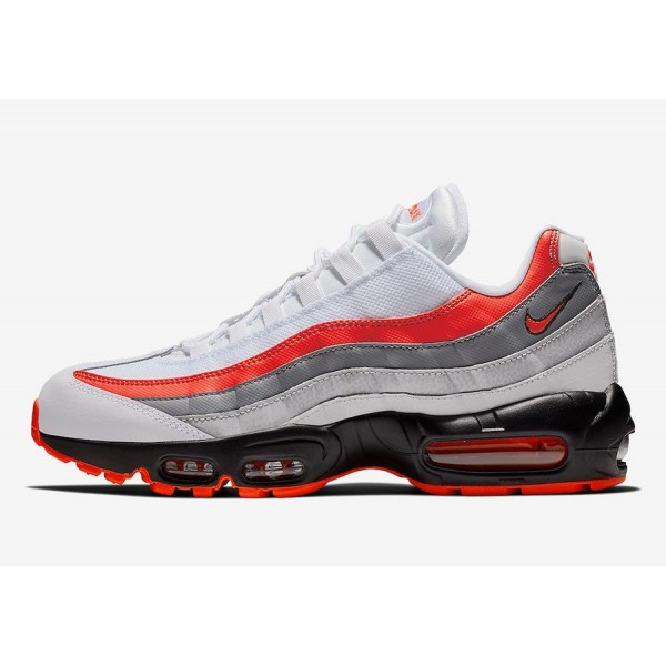 Nike Air Max 95 Blancas/Bright Crimson/Negras - 74...