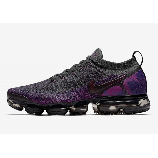 Nike Air VaporMax Flyknit 2.0 Negras/Night Púrpur...