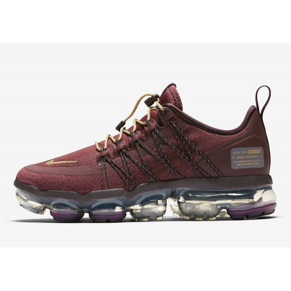 Nike Air VaporMax Utility Burgundy/Metallic Gold -...